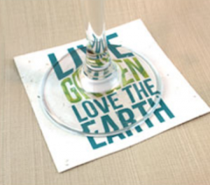 Coaster in plantable Paper