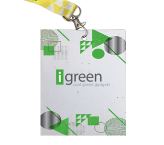 Badge in plantable Paper